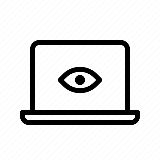 Device, laptop, spy, spying icon - Download on Iconfinder
