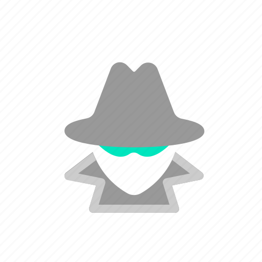 cracker, cyber, hacker, hat icon