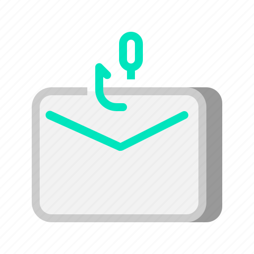 attack, connection, email, mail, message, network, phishing icon