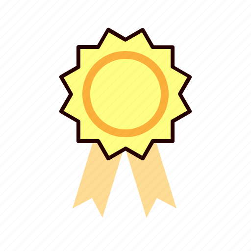badge, certificate, medal, permission icon