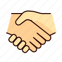 cooperation, deal, hand, interaction icon