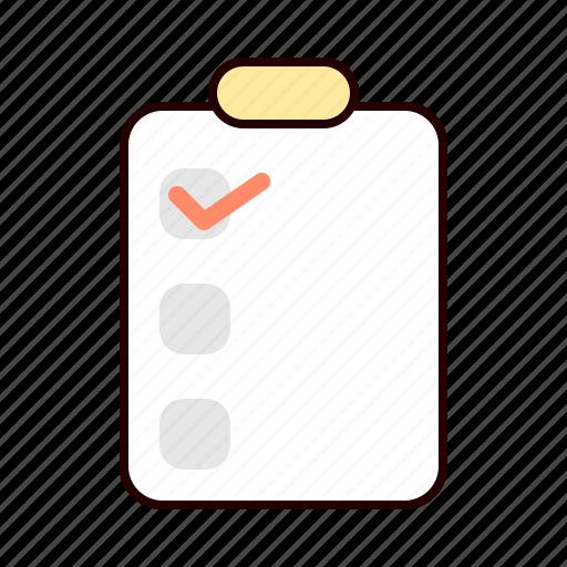 check, checklist, list, needs icon