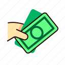 business, cash, money, pay icon