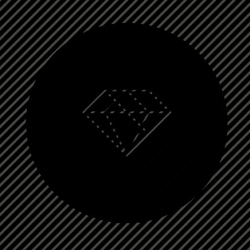 diamond, prize, ruby, vision icon