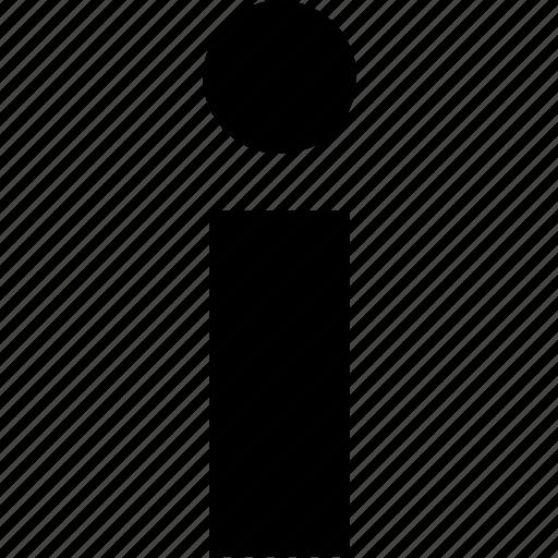 i, info icon