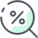 discount, find, promo, sale, search, shop, shopping icon