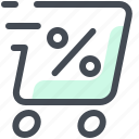discount, shopping, thermal, box, percent, courier, delivery icon