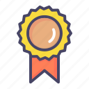 achievement, badge, honor, medal, ribbon icon