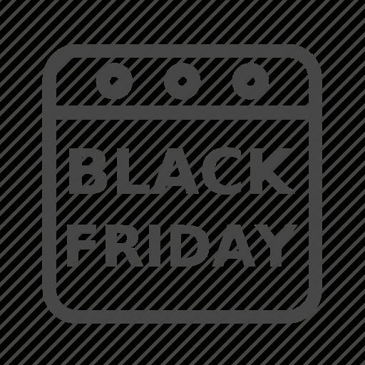 black, calendar, friday, schedule icon