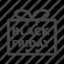 black friday, commerce, gift icon