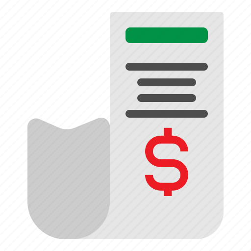 Bill, dollar, invoice, receipt, transaction icon - Download on Iconfinder