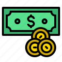 banknote, coins, money, pay, payment icon