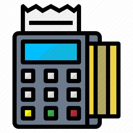card, money, payment, terminal, transaction icon