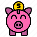 bank, coin, money, piggy, saving icon