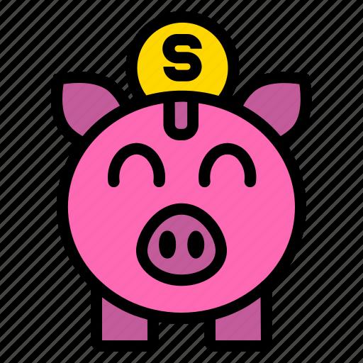 bank, coin, money, piggy, saving icon