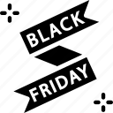 banner, black friday, label icon