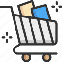 checkout, ecommerce, retail, shop, shopping cart icon