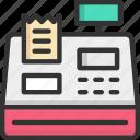 bill, cash register, ecommerce, invoice, receipt icon