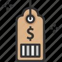 discount tag, dollar, label, price tag icon