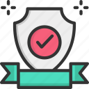 quality, shield, warranty icon