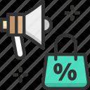 discount, megaphone, sale
