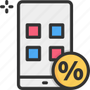 app discount, online discount icon