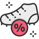 discount, offer, shoe