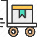 gift, packages, trolley icon