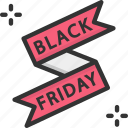 label, banner, black friday