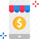 mobile store, mobile storemobile payment, shopping icon