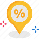 discount, location pointer, placeholder icon