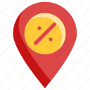 discount, gps, location, map, pin, sale, shopping
