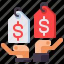 balance, compare, prices icon