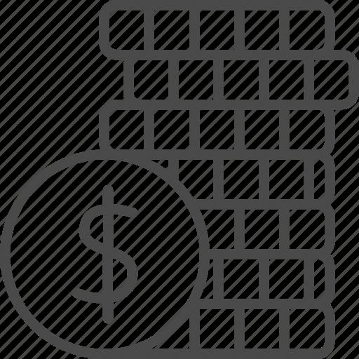 bank, coin, dollar, finance, financial, money, pay icon