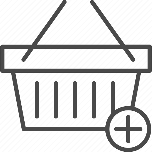 add, basket, online, retail, shop, shopping, store icon