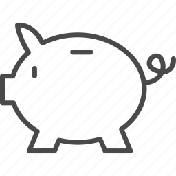 bank, banking, finance, financial, money, pig, piggy icon