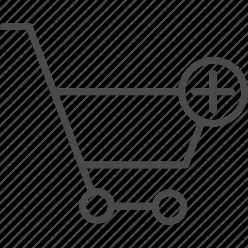 add, basket, cart, online, retail, shop, shopping icon