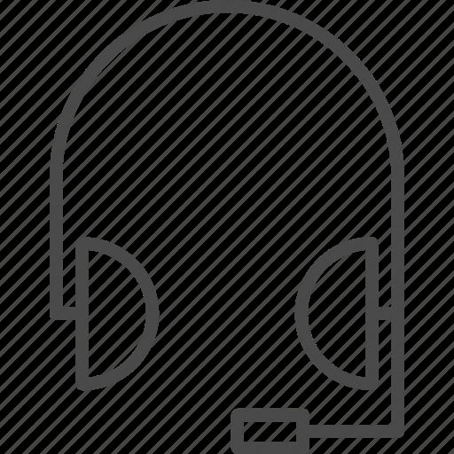 chat, earphones, headphones, headset, online, service, support icon