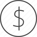 bank, coin, dollar, finance, financial, money, pay icon
