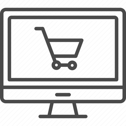 cart, computer, cyber monday, online, retail, shop, shopping icon