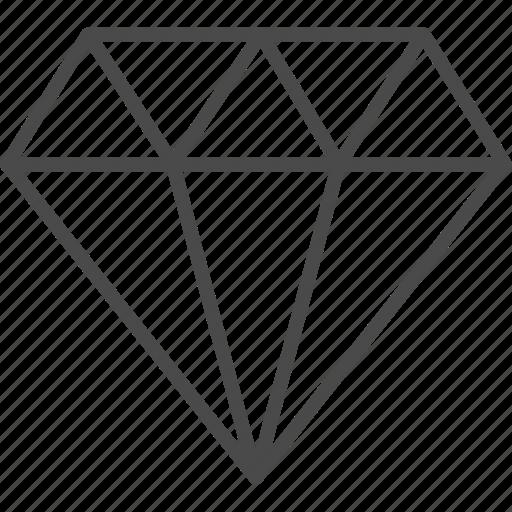brilliant, diamond, gem, jewel, precious, stone icon