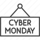 cyber, cyber monday, discount, monday, sale, shop, shopping icon