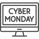 computer, cyber, cyber monday, monday, online, sale, shopping icon