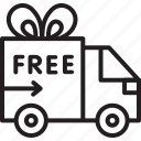 black friday, cyber, delivery, free, monday icon