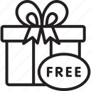 black friday, cyber, free, giftbox, monday icon