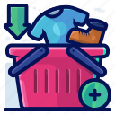 add, basket, commerce, crate, shopping icon