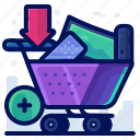 add, cart, commerce, sale, buy, shop icon