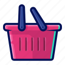 basket, crate, discount, sale, shopping icon