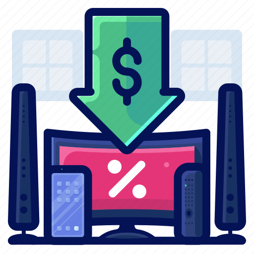 Discount, electronic, entertainment, sale icon - Download on Iconfinder