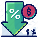 discount, dollar, percentage, sale, shopping icon